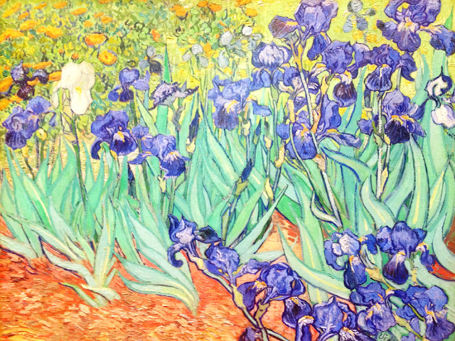 Van Gogh's Irises at the Getty Museum, LA - Los Angeles, California - travel blog