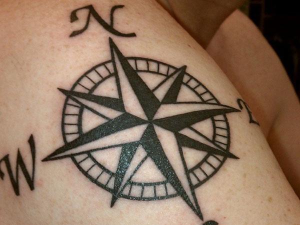 Estrela Náutica Tatuagem - Tattoo Star