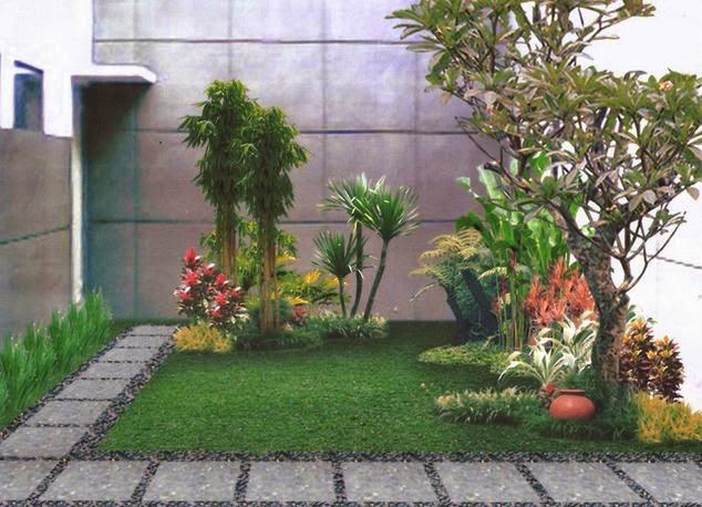membuat taman rumah cantik dengan perpaduan batu alam
