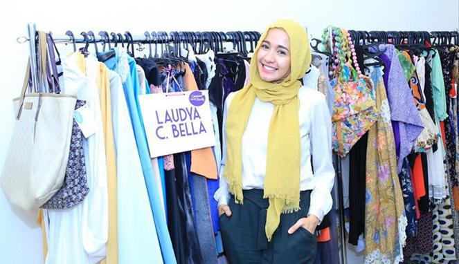 Laudya Cynthia Bella Bagi Rahasia Memakai Hijab Simple Cantik Fashion Hijab