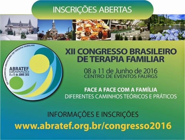 XII CONGRESSO BRASILEIRO DE TERAPIA FAMILIAR
