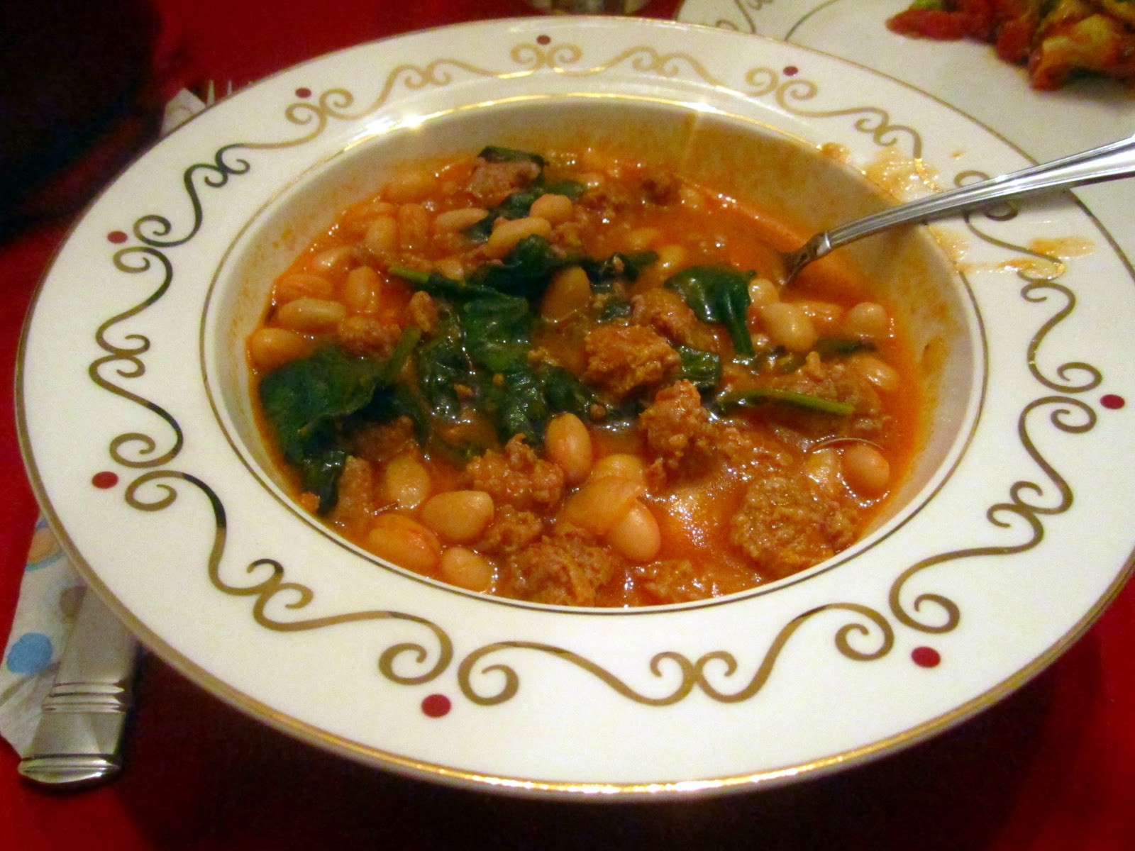 The Shepwell Kitchen: Hearty Sausage, White Bean and Spinach Soup