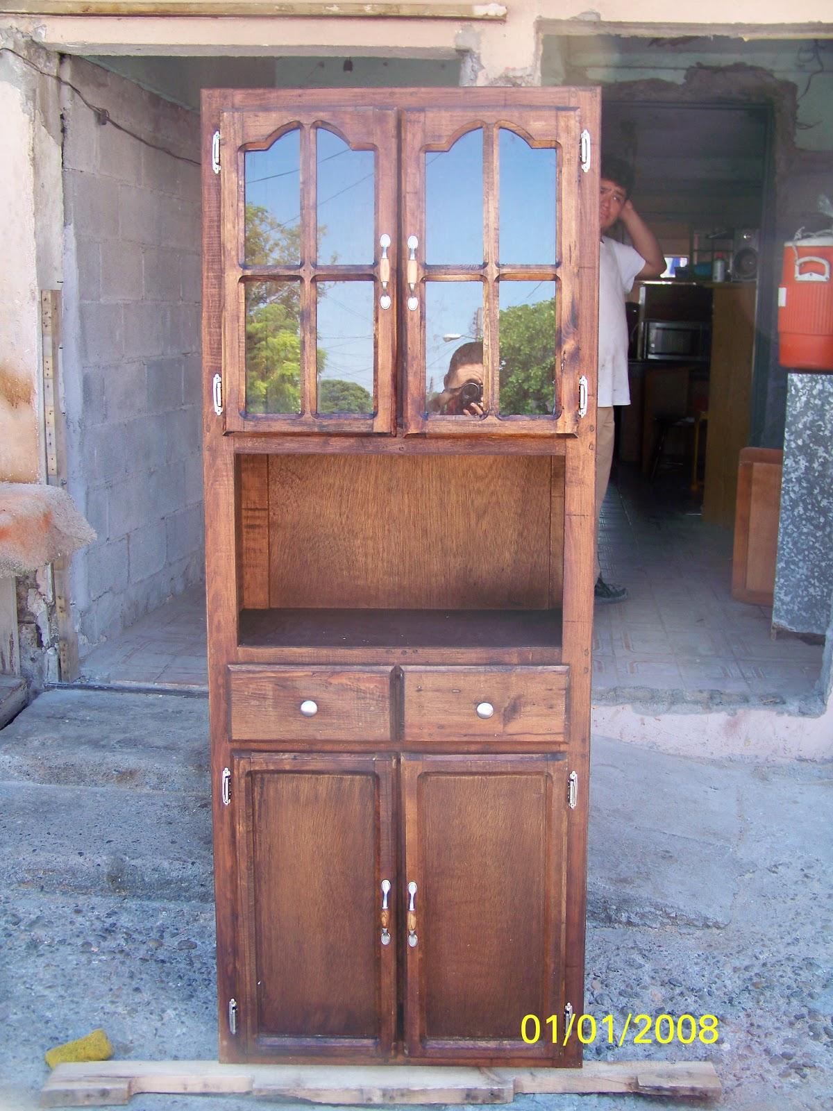 Carpinteria villalobos mueble para cocina 4 puertas 2 for Mueble cocina microondas