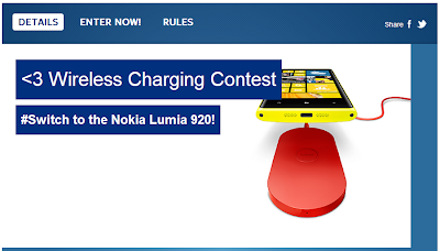 Contest: Win a Nokia Lumia 920 with a Wireless Charging Pad