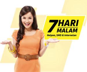 Iklan SPG Indosat 7 Hari 7 Malam