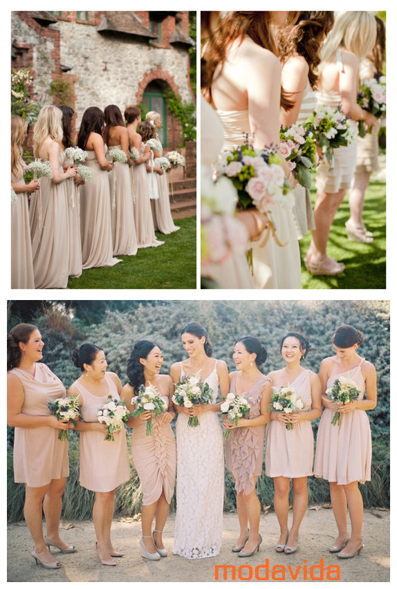 Los colores para vestidos de damas de honor 2013