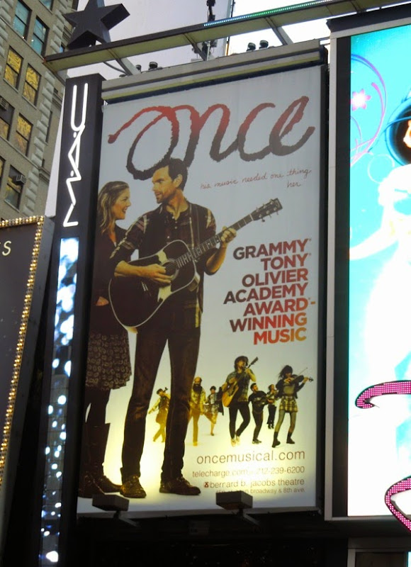 Once musical billboard Times Square