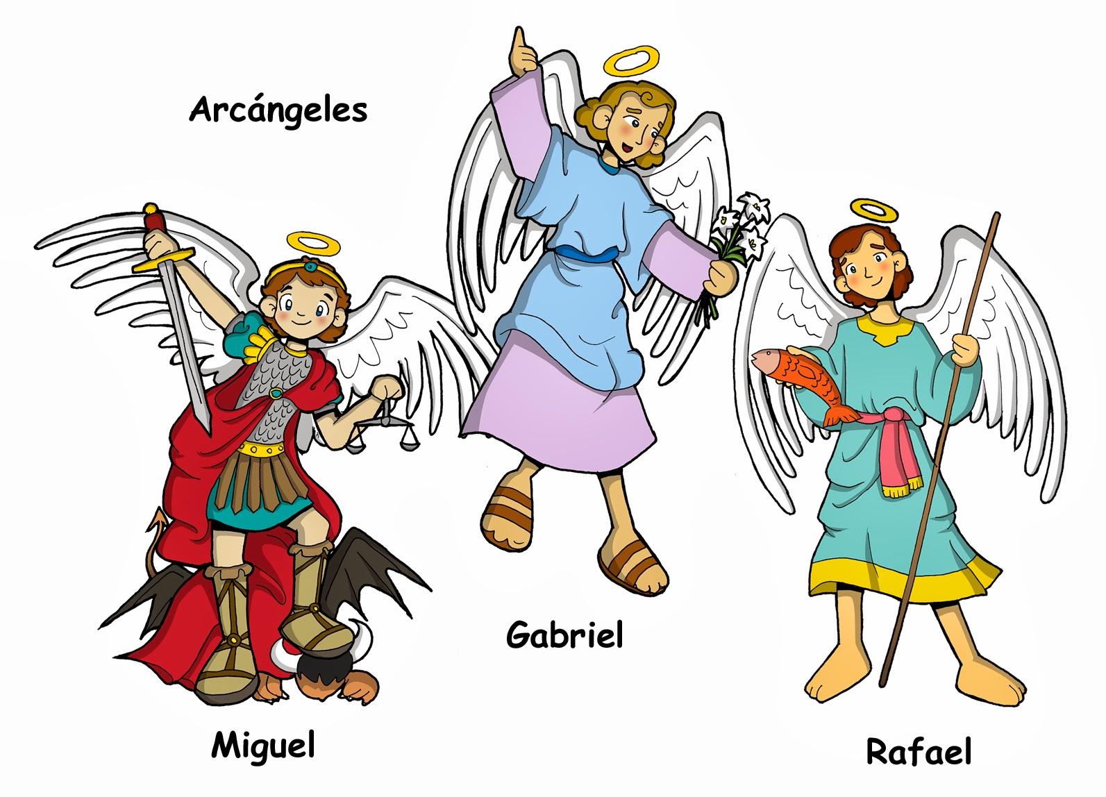 Imagenes De Los Arcangeles Gabriel Rafael Y San Miguel