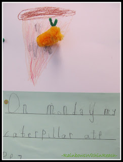 "photo of: Kindergarten Writing on ""Very Hungry Caterpillar (via RainbowsWithinReach)"