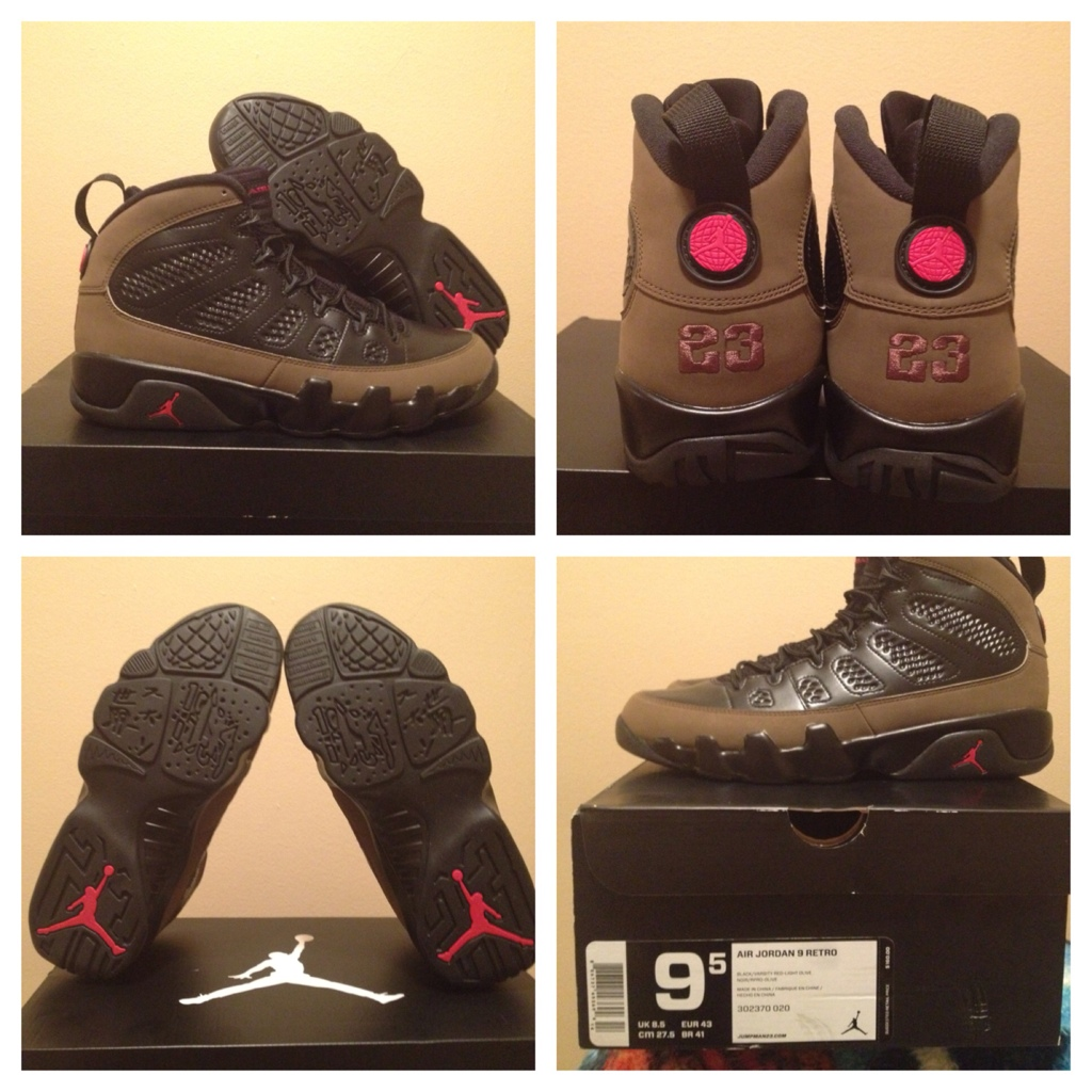 air jordan 9 olive for sale