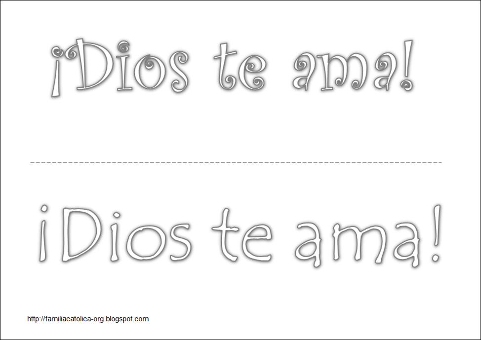 Famoso Jesús Te Ama Para Colorear Adorno - Dibujos Para Colorear En ...