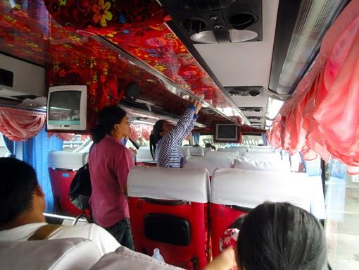 double-decker bus interior