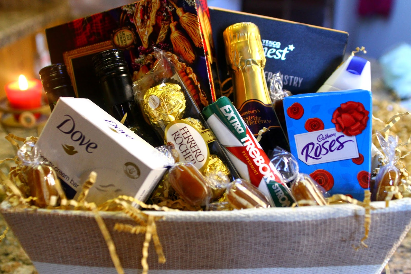 How to make a hamper eltoria wilkinson sell a very handy hamper making kit which comes with cellophane shredded cardboard a bow and a gift tag hamper basket is sold separately negle Choice Image