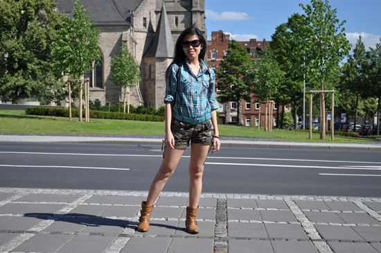 plaid shirt for women outfit