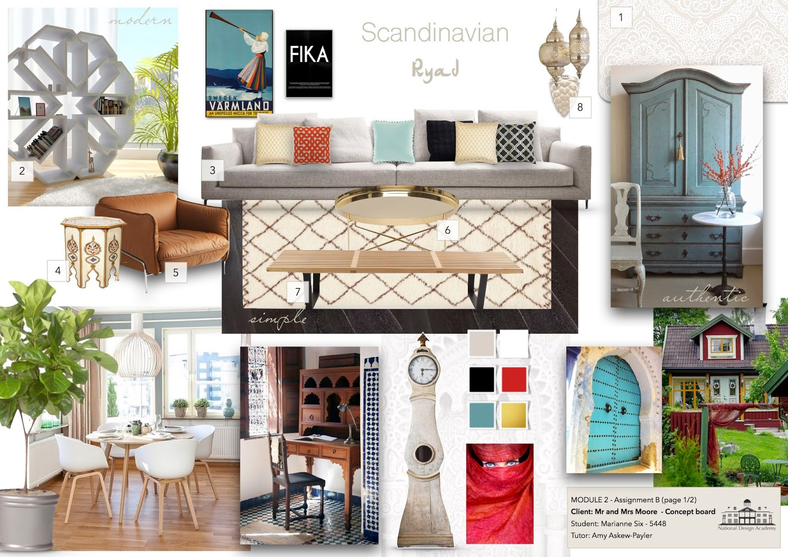 This Is A Concept Board I Created For Virtual Clients As You Can See Challenged Myself With Design That Mix The Swedish Background Of My Client And