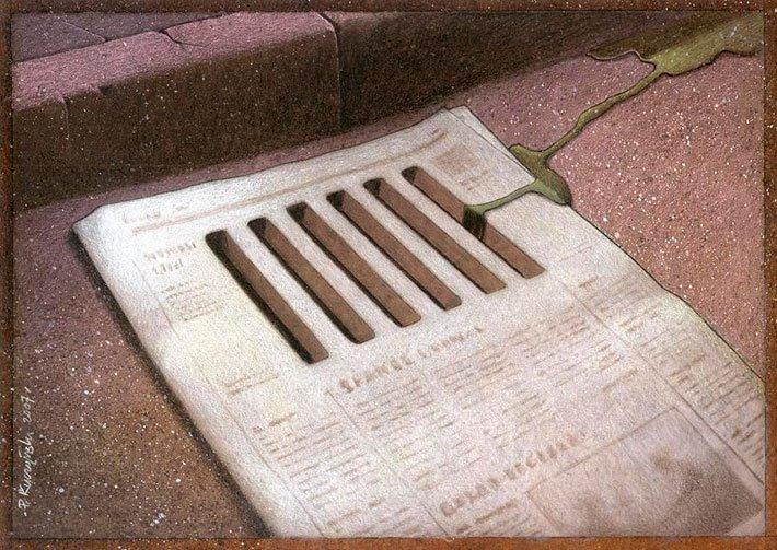 gambar realita kehodupan koran
