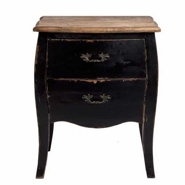 mesilla rustica negra madera