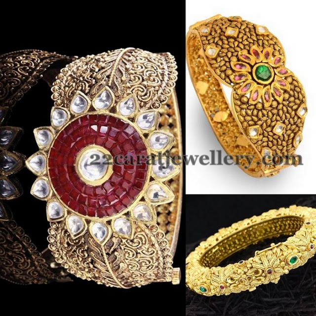 Floral Wide Bangles Designs