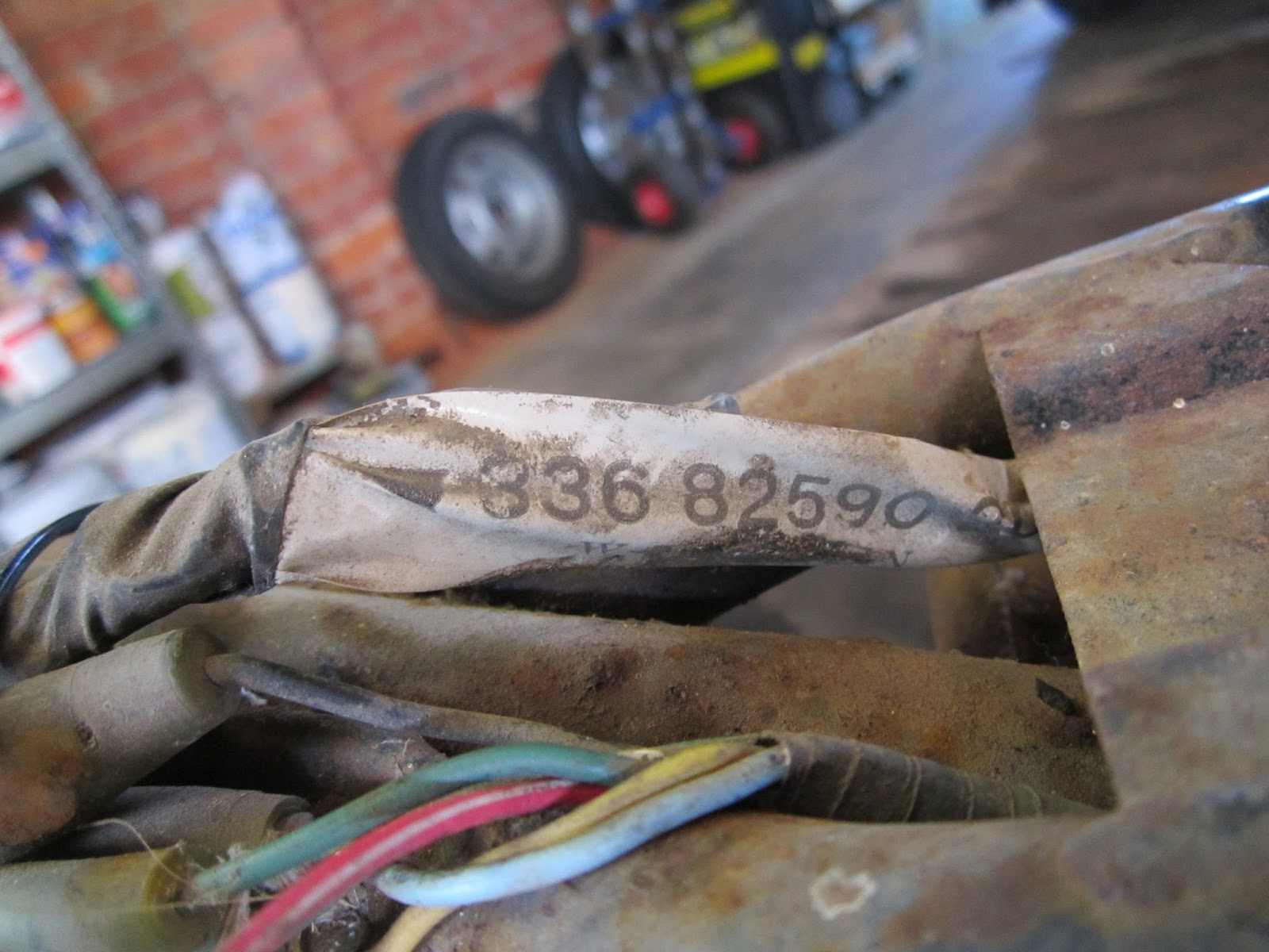 Restoration Yamaha Ls3 1972 Rebuilding Chassis Wire Harness Tags Part Number Tag Still On The Original Wiring