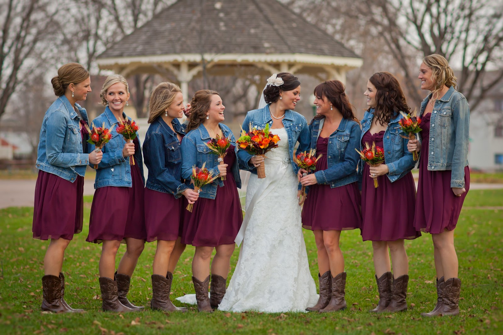 Blue Jean Wedding Dresses : Omg love this is perfect minus the flowers