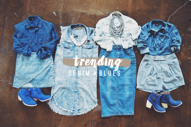 Trending denim on denim outfit