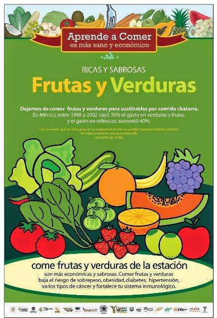 Come Frutas y Verduras de la estación