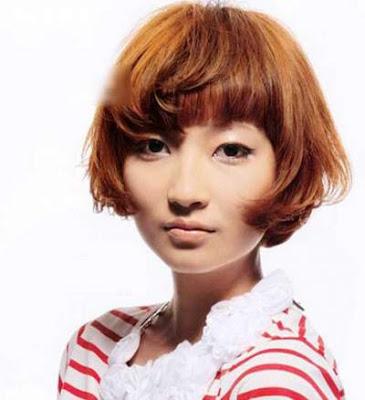 Model gaya rambut ginger bob wanita jepang