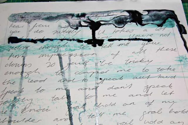 Mixed Media Montag | Mixed Media-Hintergrund mit verstecktem Journaling erstellen | www.danipeuss.de