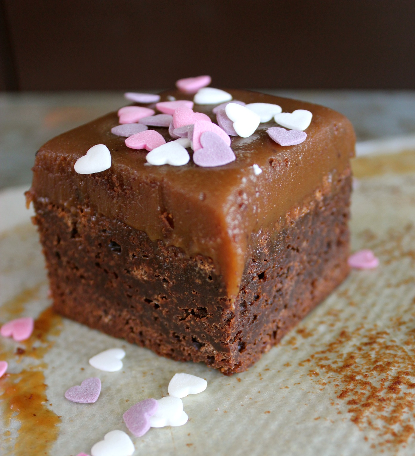 Warm & Snug & Fat » Double Chocolate Salt Caramel Brownies