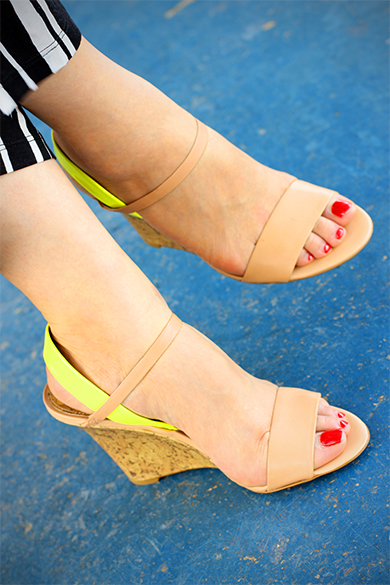 Loft strappy wedge sandals