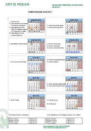 Calendario escolar (2016/17)