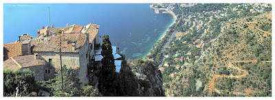 Eze village looking towards Eze sur Mer