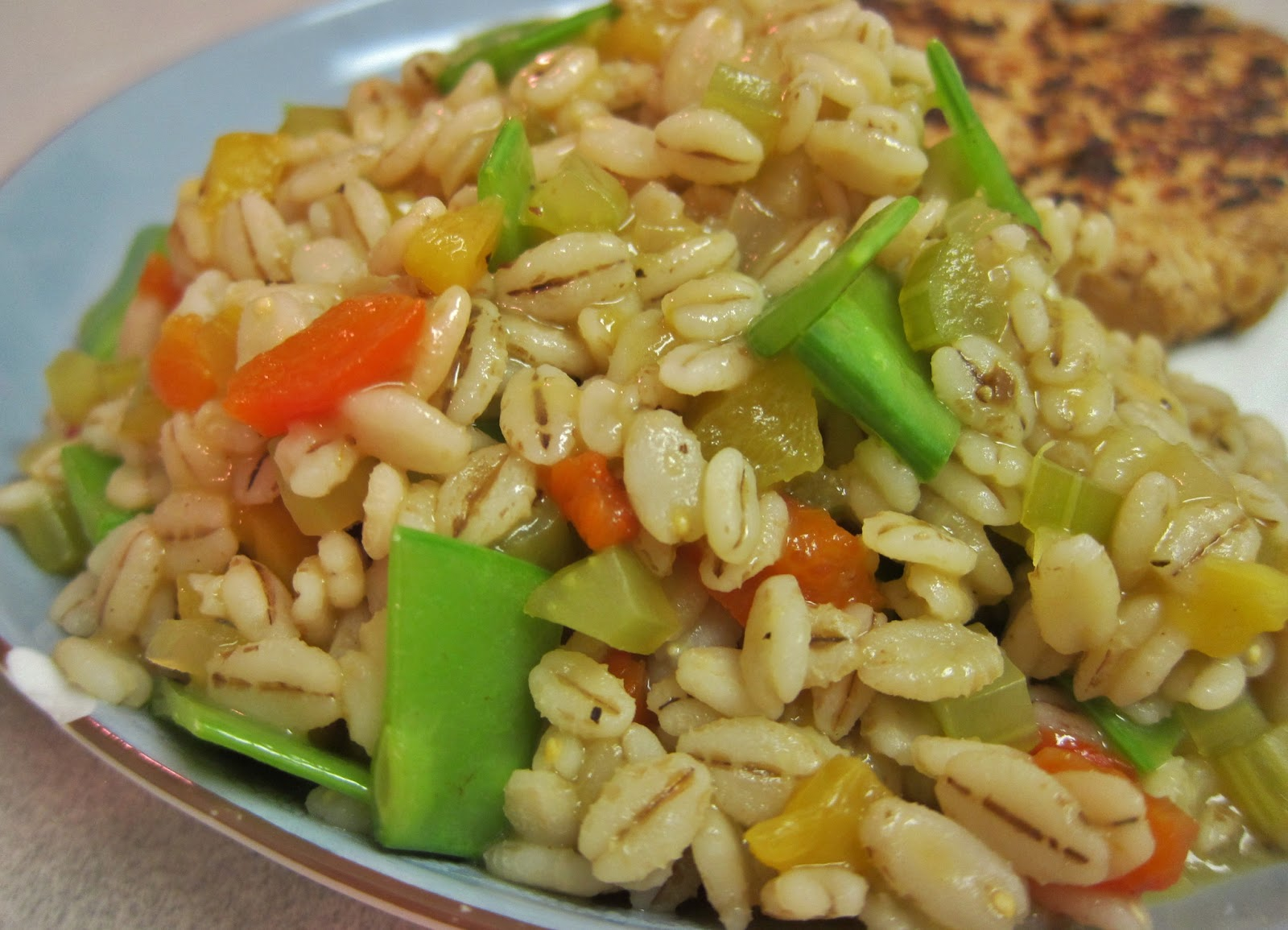 The Vegan Chronicle: Barley Pilaf with Roasted Peppers and ...