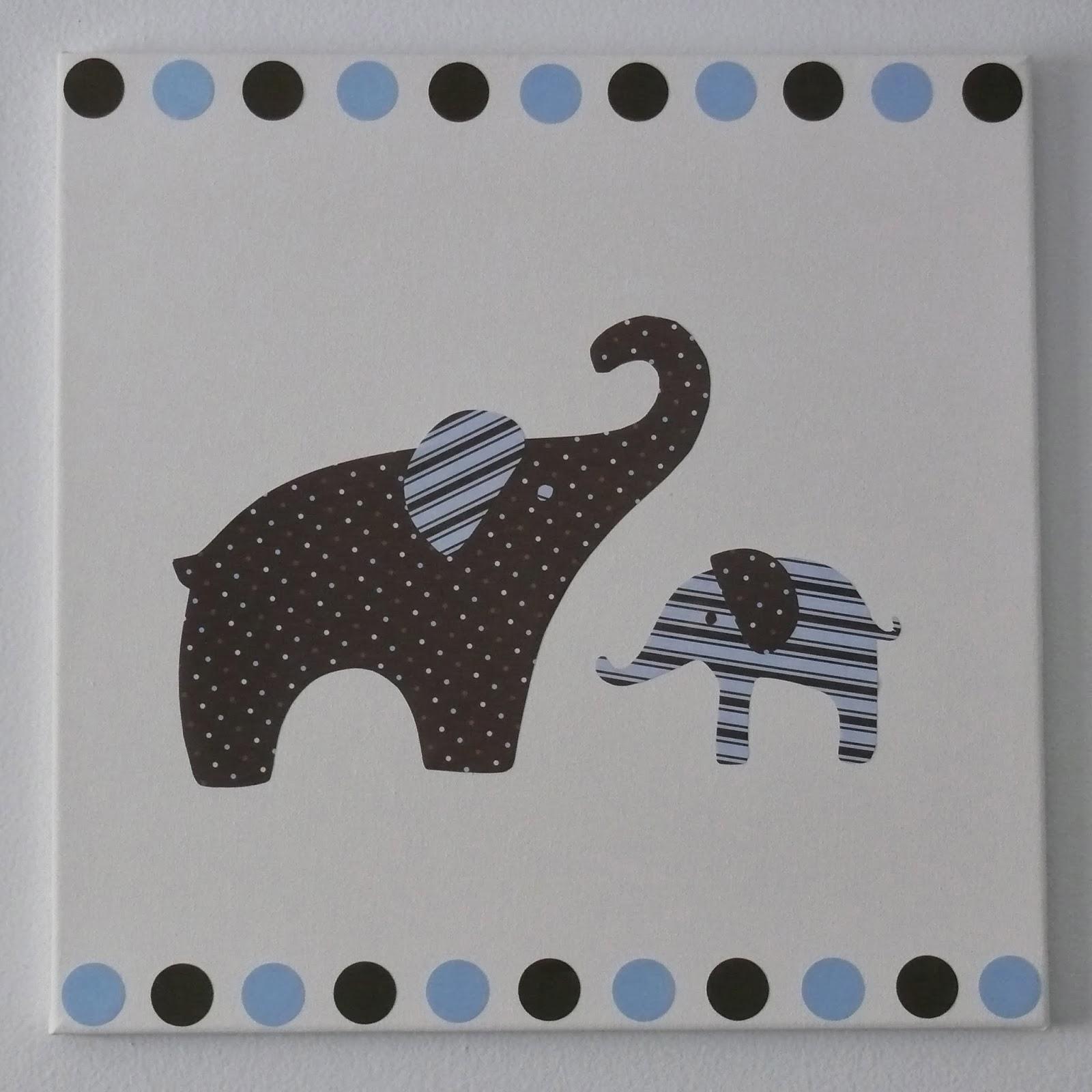DIY Elephant Nursery Art