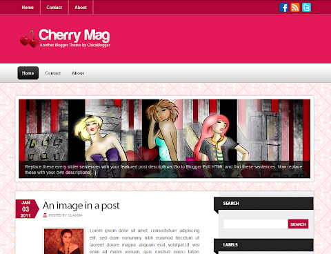 Cherry Mag Blogger Theme