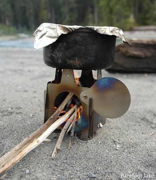 Ultralight Titanium Wood Stove