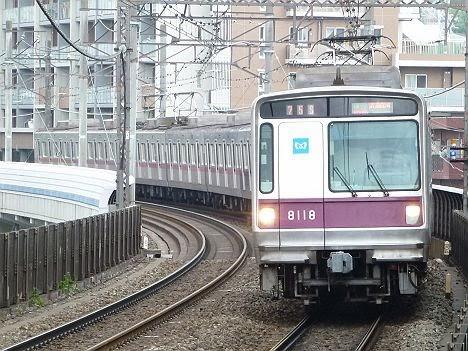 東京メトロ半蔵門線 田園都市線 準急 清澄白河行き 8000系