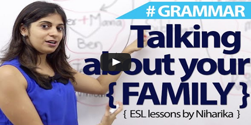 How to talk about my family in the english language