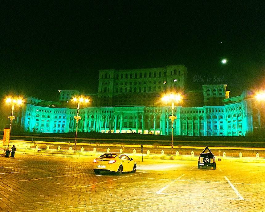 palatul parlamentului in verde ziua sfantului patrick 17 martie 2013