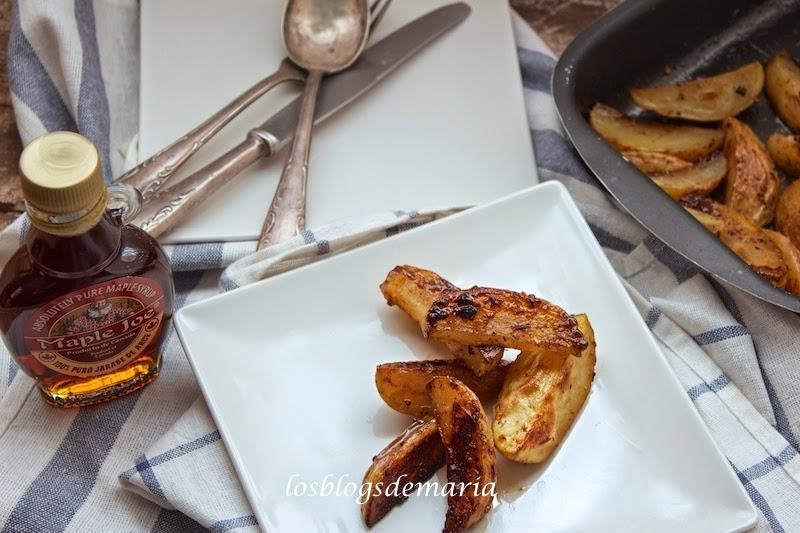 Patatas al jarabe de arce