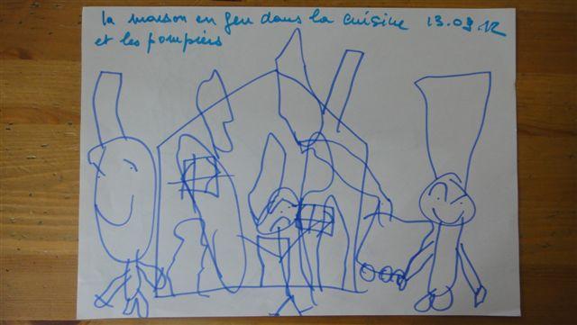 La bulle de tomi les dessins de tomi 01 10 12 for Au feu les pompiers la maison qui brule