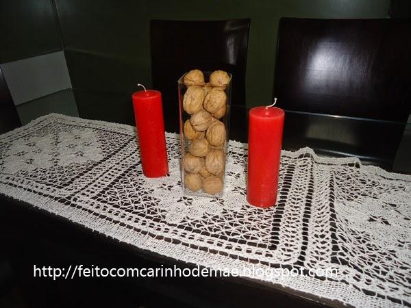 Nozes na decoração de natal