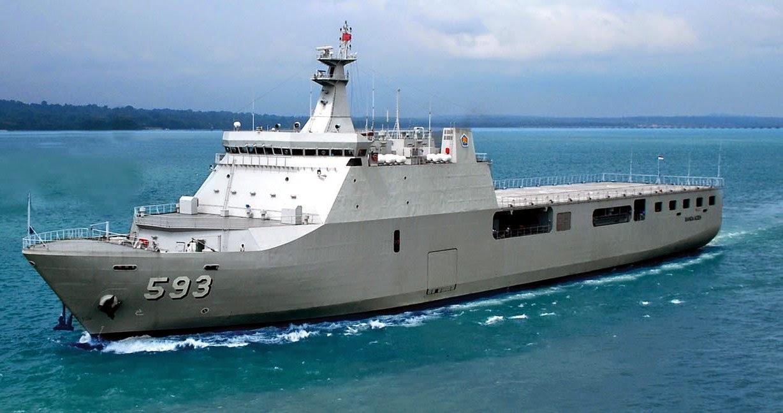 Kapal LPD 125 KRI Banjarnmasin 593 buatan PT PAL