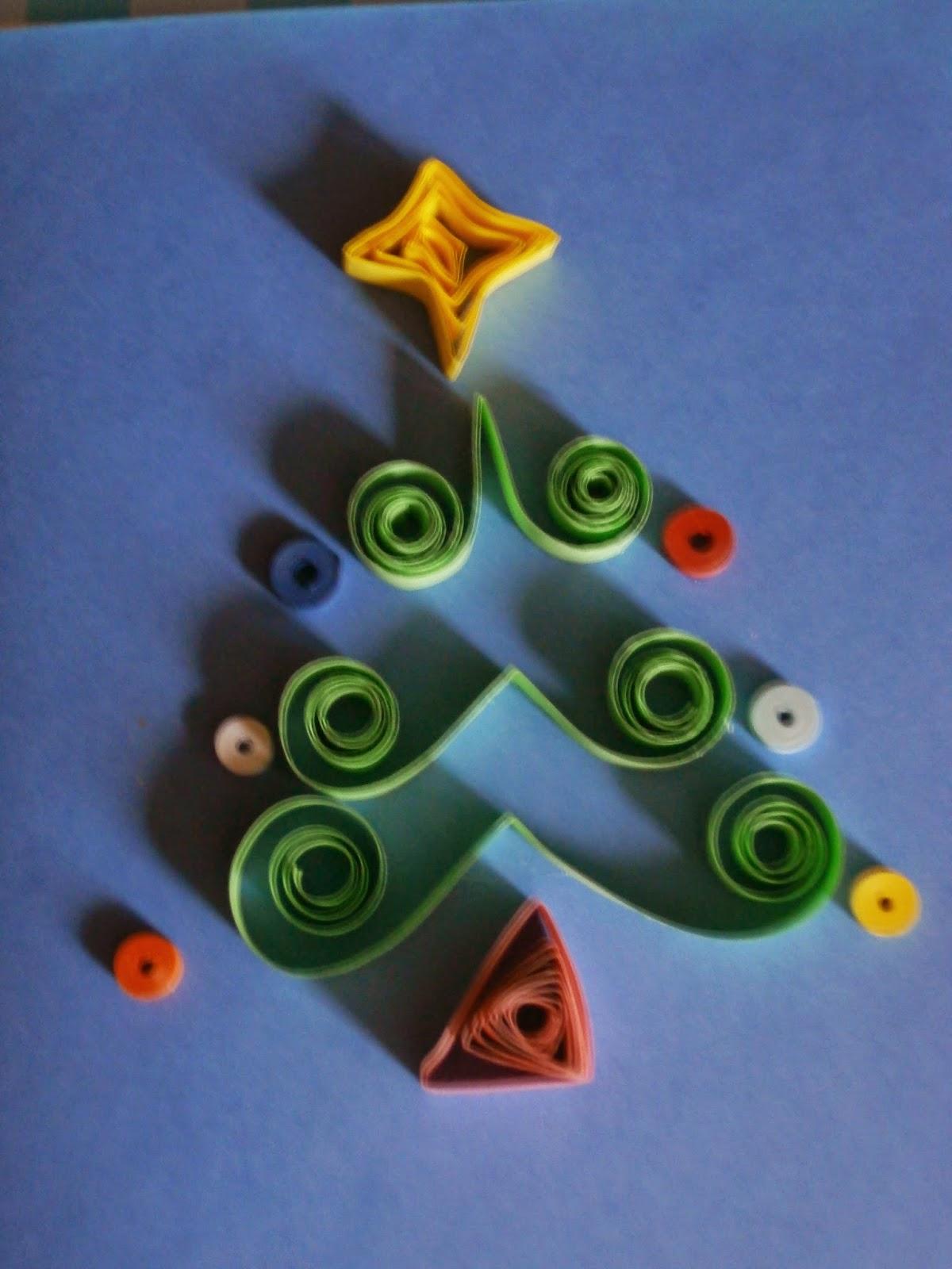 abeto quilling Navidad