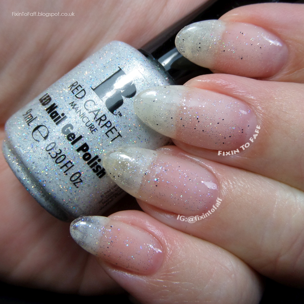 Swatch and review of Red Carpet Manicure Diamond gel polish glitter top coat.