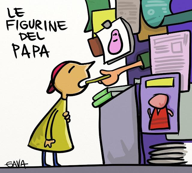 Gavavenezia gava venezia satira vignette ridere piangere pensare disegno illustrazione caricatura papa figurine francesco edicole barbapapa giornali ostia