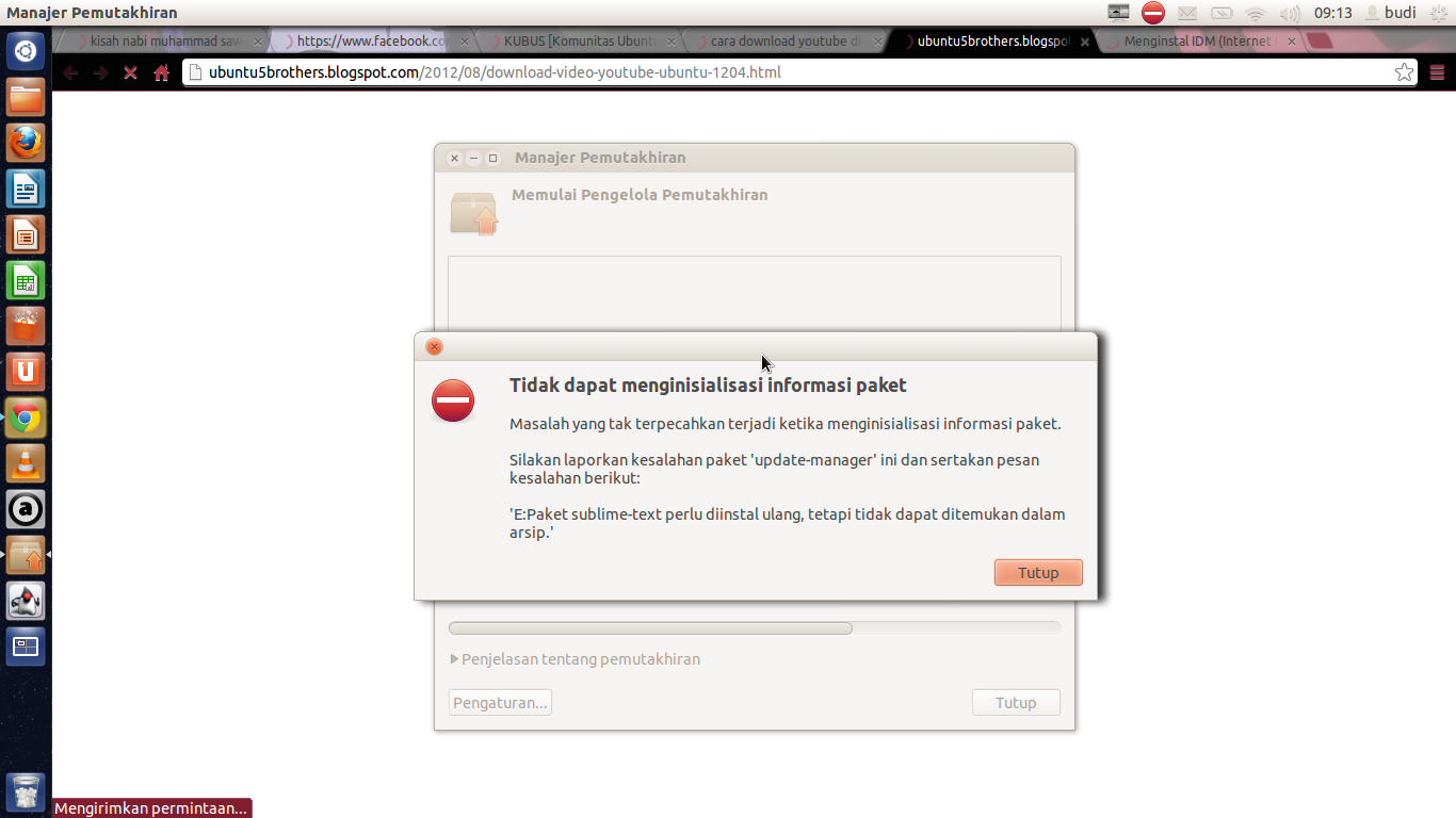 dpkg was interrupted you must manually run sudo dpkg