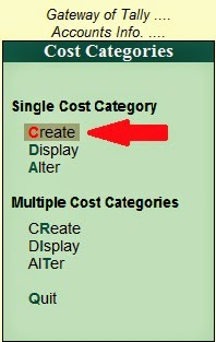 how to create cost center