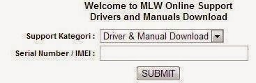 Tampilan Web MLW Online Support