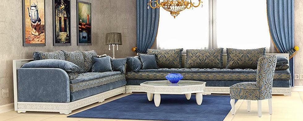 Salon marocaine moderne salon marocain lyon pour - Modele de decoration salon ...